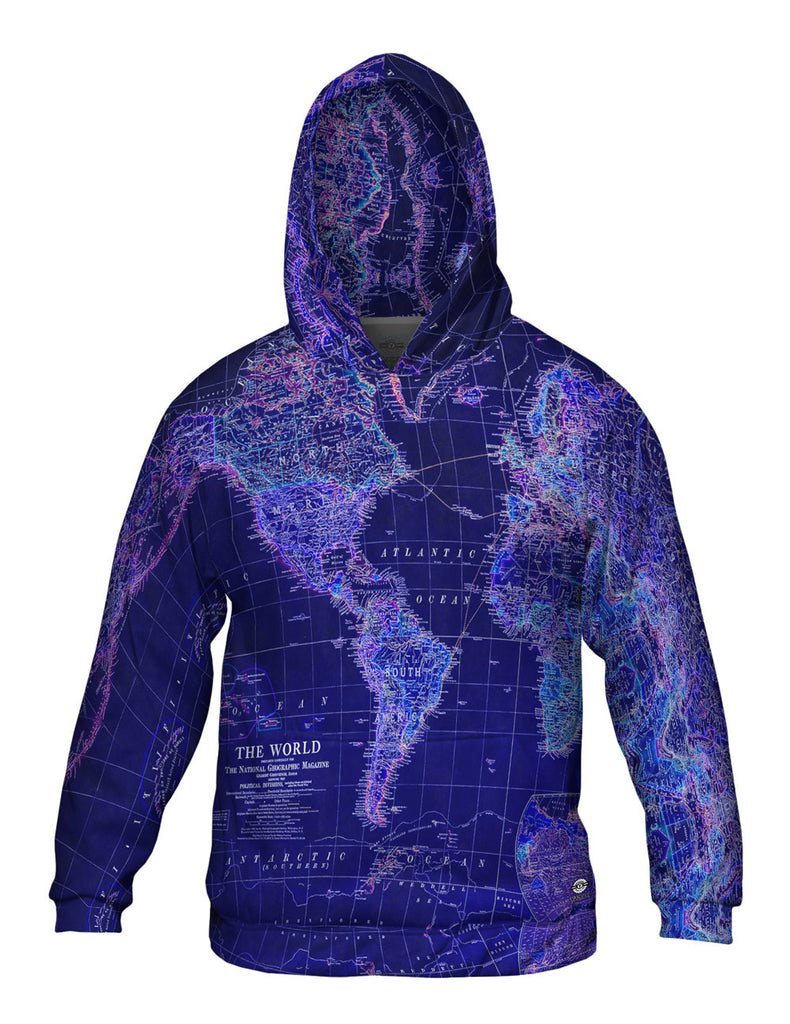 World map neon close mens hoodie sweater yizzam gumiabroncs Choice Image