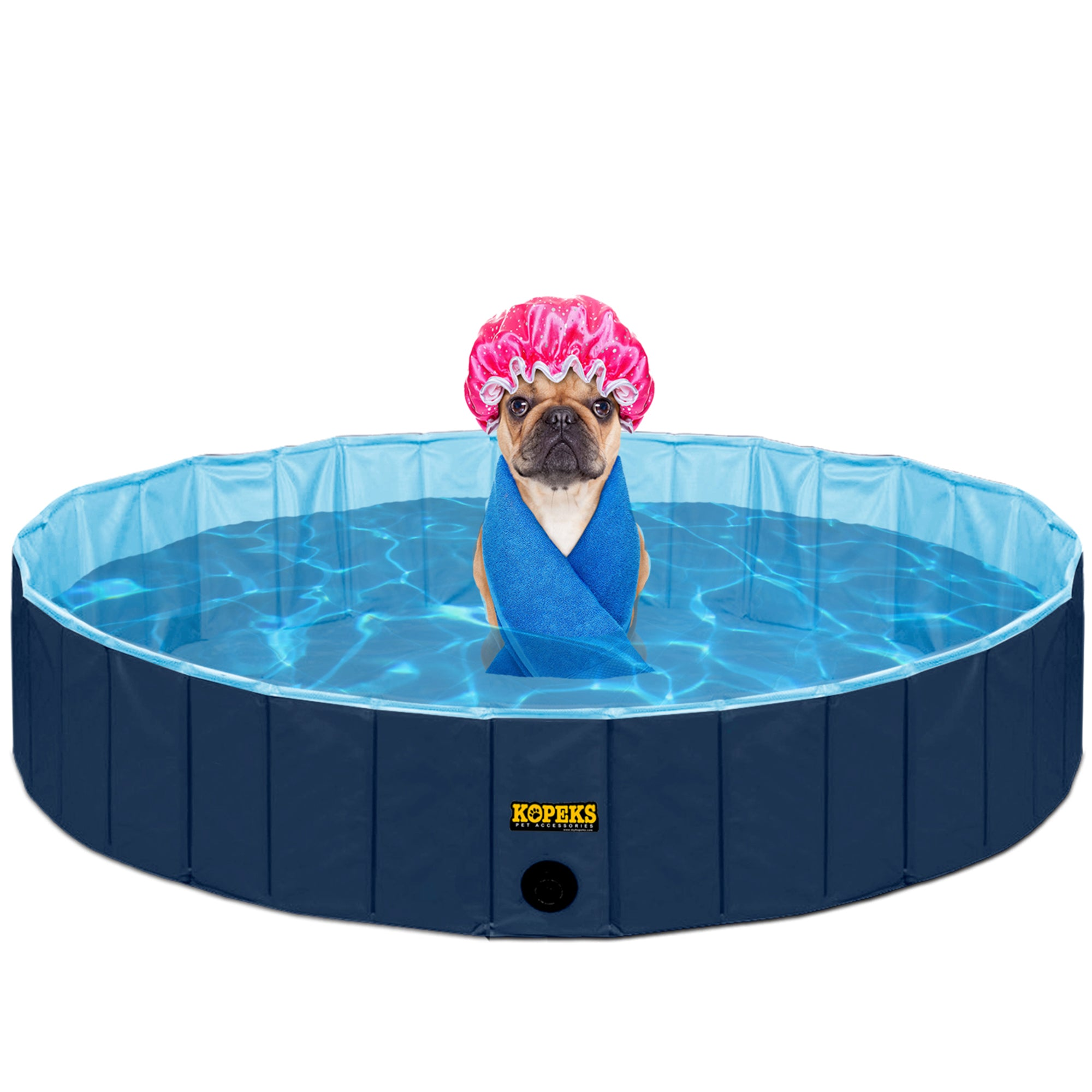 Pet Pool Outdoor Swimming Pool Bathing Tub Navy Size Extra Large Kopeks
