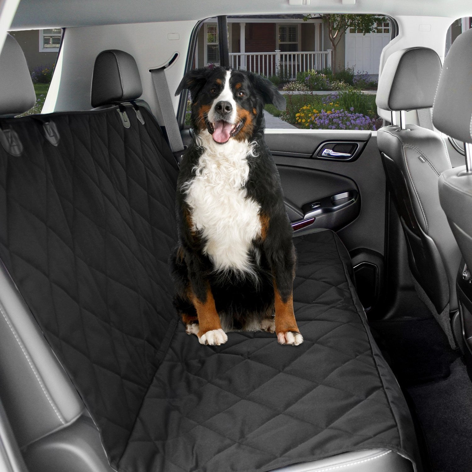 Dog Car Seat Cover Back Seat For Pets Black