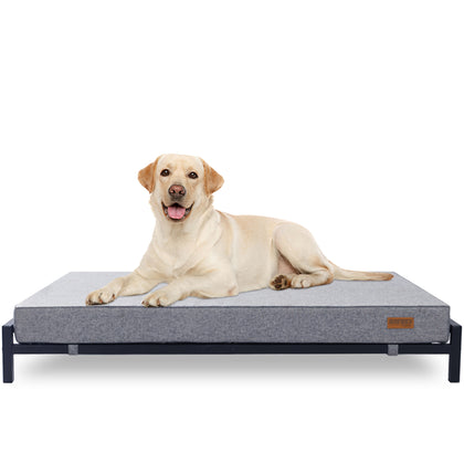 Elevated Dog Bed with Orthopedic Foam Mattress - Modern Style - For Large Dogs