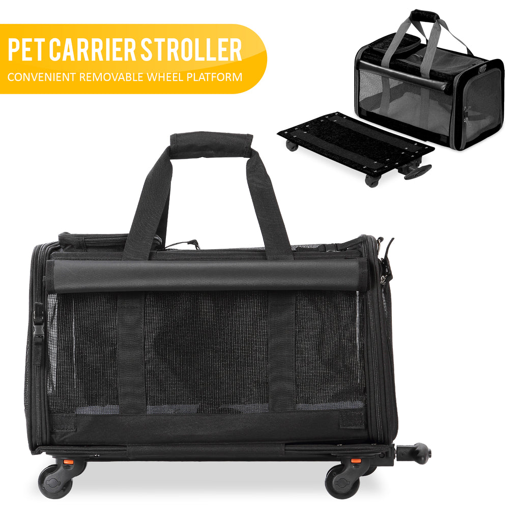 Pet Carrier With Detachable Wheels For Small And Medium