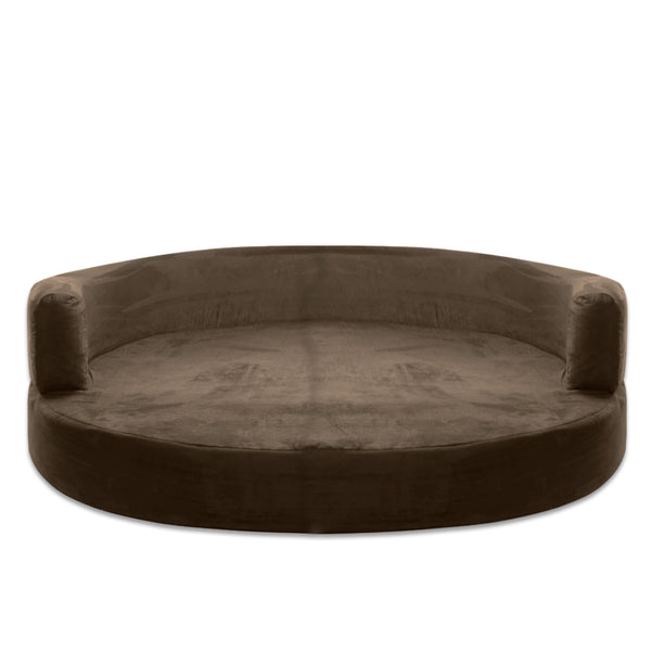 REPLACEMENT Cover For Sofa Round Deluxe Dog Bed Brown - Extra Large