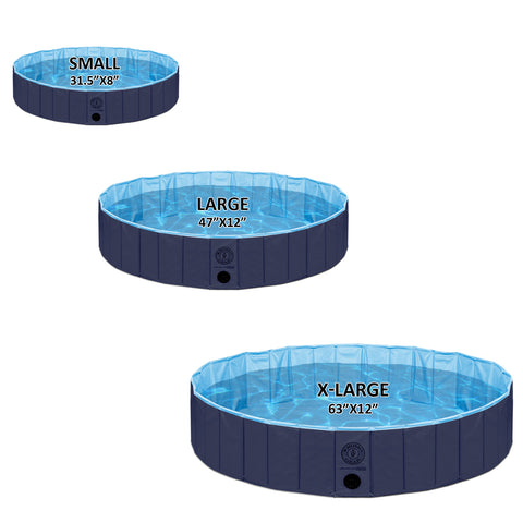 Pet Pool Outdoor Swimming Pool Bathing Tub Navy Size Extra Large