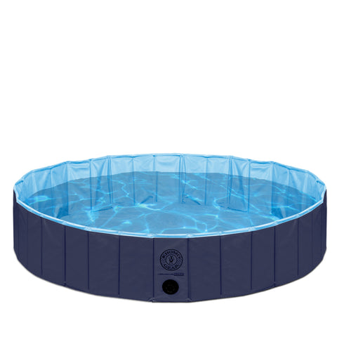 Pet Pool Outdoor Swimming Pool Bathing Tub Navy Size Small
