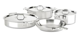All Clad d3 7pc Compact Set Cookware