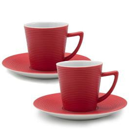 Dolce Vita Espresso Coffee Cups and Saucers