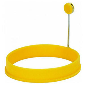 "Trudeau Silicone Egg Ring 4"" Yellow"