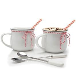 Hot Chocolate Mugs Set of 2