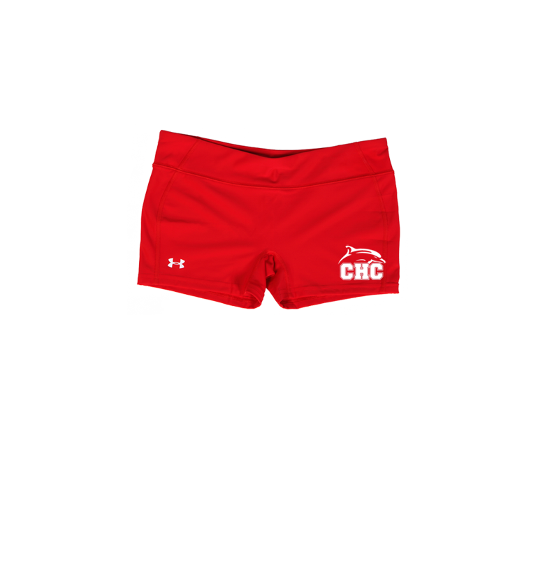 "UA Red React 3"" Compression Shorts - Women's"
