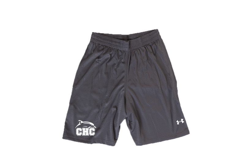 UA Grey Double Double Mesh Shorts - Men's
