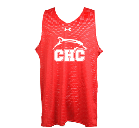 UA Red Double Double Reversible Pinnie - Men's