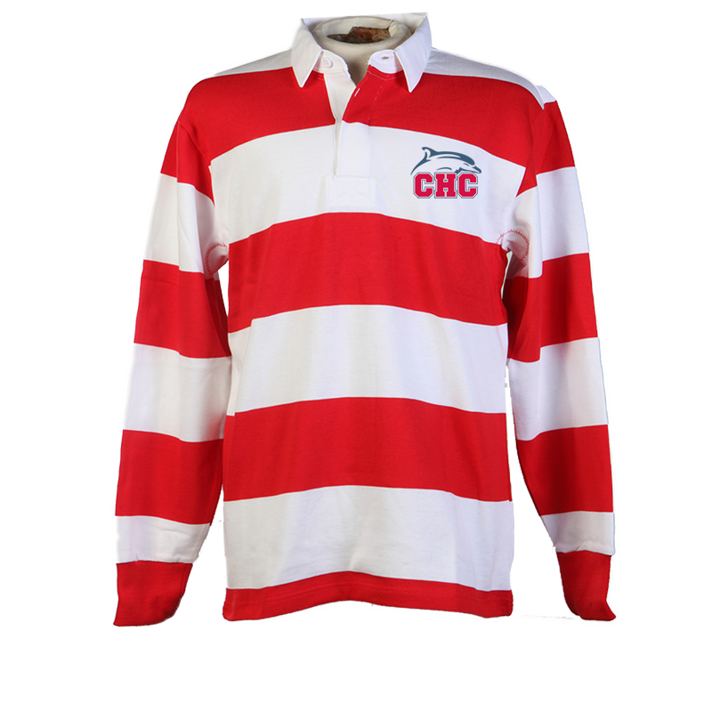 Red/White Rugby Polo Shirt