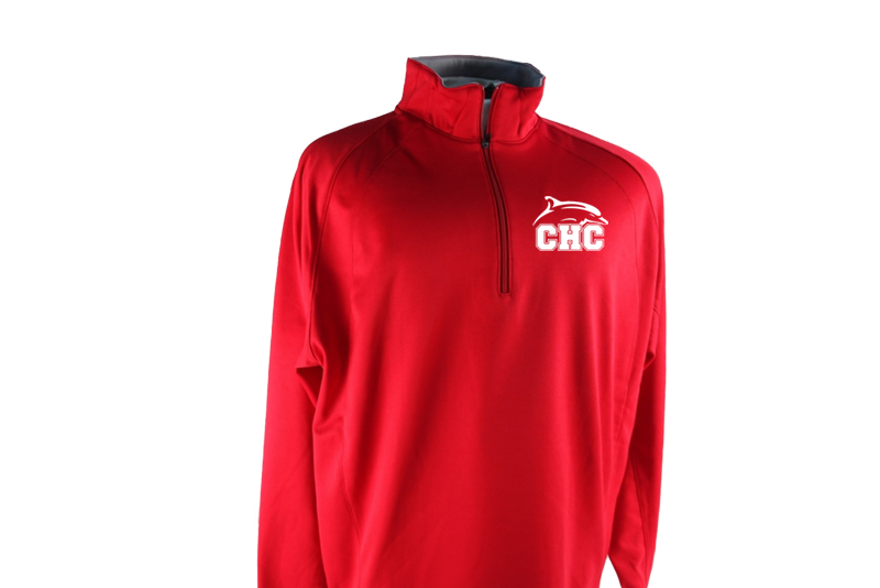 Sport-Tek® Sport-Wick® 1/4-Zip Fleece Pullover - Red
