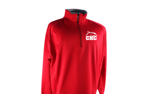 Sport-Tek® Sport-Wick® 1/4-Zip Fleece Pullover Mens - Red
