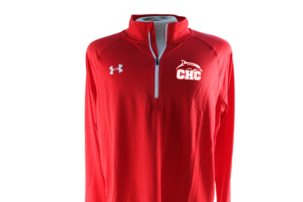 UA Team Rival Tech 1/4 Zip Red -Men's
