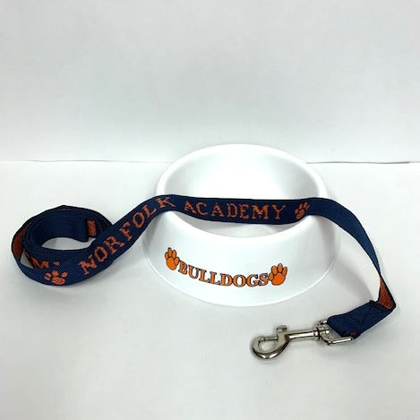 Bulldog Leash and Bowl Set