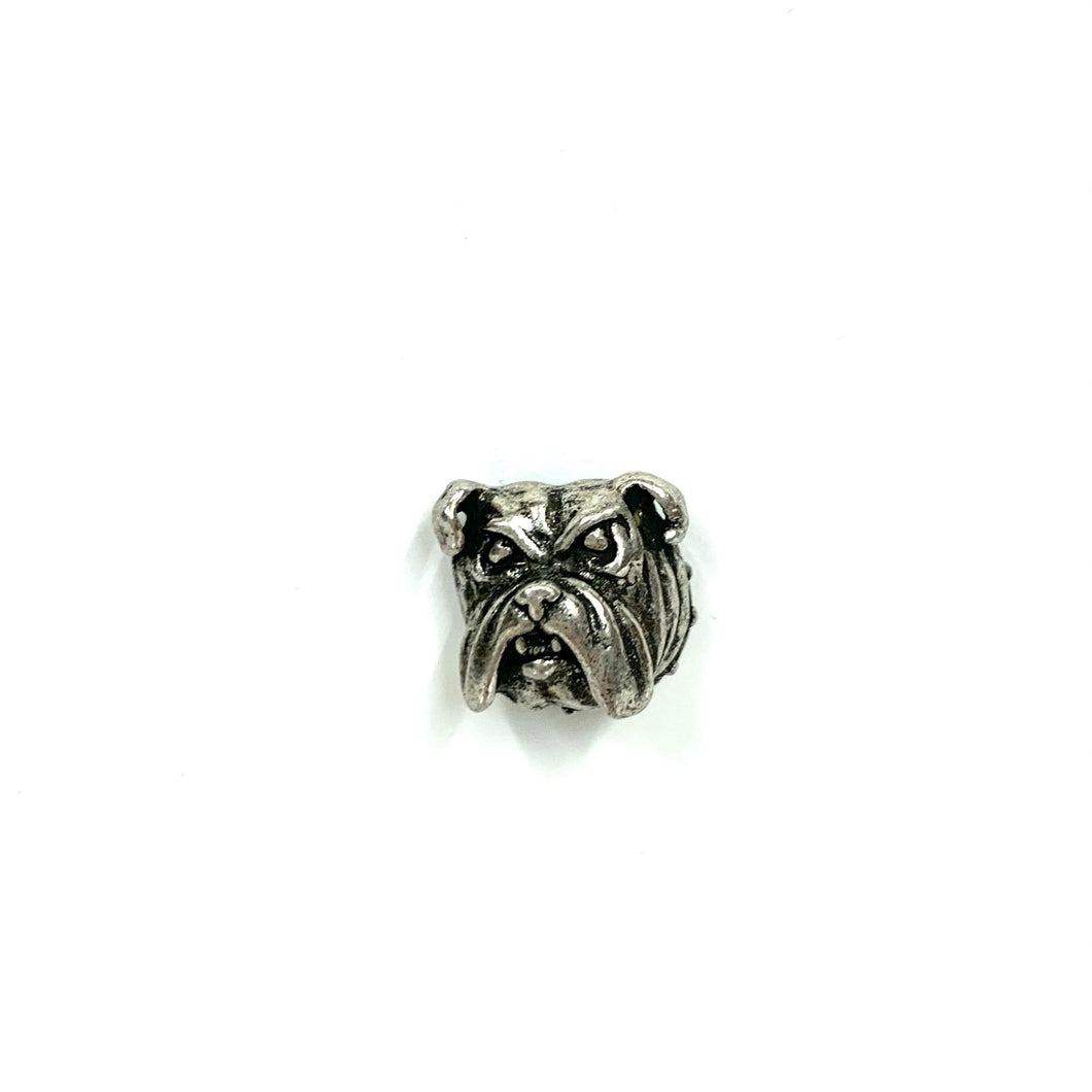 Bulldog Pewter Lapel Pin