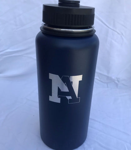 NA Engraved Wide Mouth Stainless Water Bottle - 32 oz