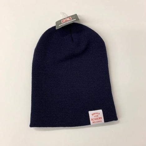 Beanie Hat with Clip Tag Logo