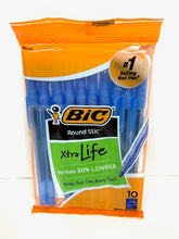 Load image into Gallery viewer, Bic Xtra Life Round Stic Ballpoint Pens - 10/PK