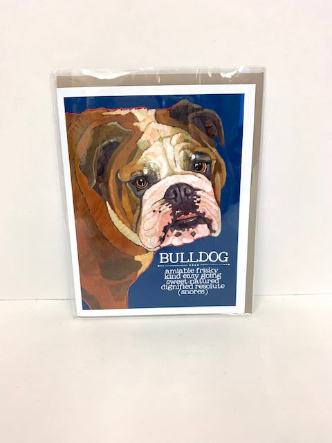 Bulldog Trait Greeting Card
