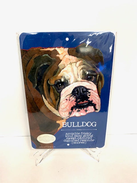 Bulldog Trait Tin Sign