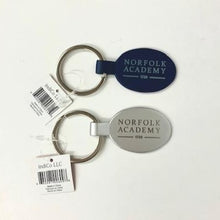 Load image into Gallery viewer, Norfolk Academy Engraved Oval Keychain