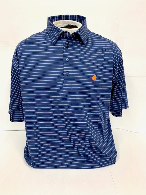 Striped Performance Polo by Horn Legend