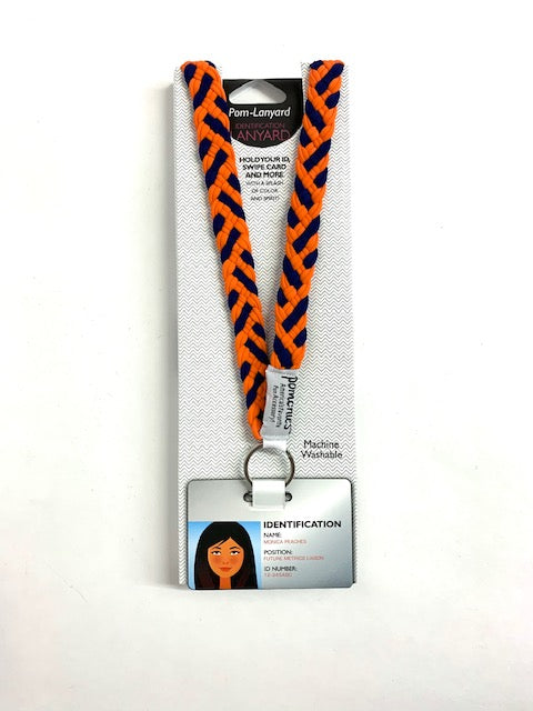 Pomchie Orange/Navy Lanyard
