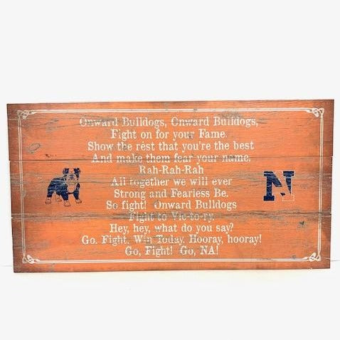 Fight Song Wooden Sign