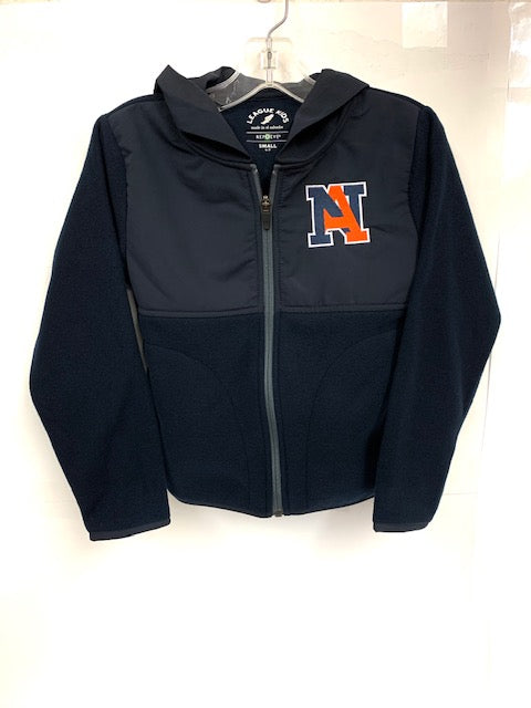 NA Fleece and Nylon Zip Jacket by League - Youth