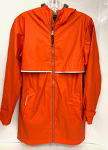 Load image into Gallery viewer, Orange New Englander Raincoat (no NA logo) - Ladies