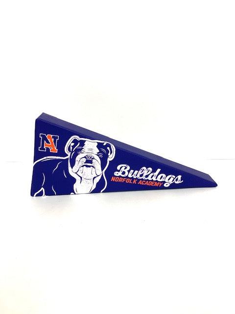Canvas Bulldog Pennant - 12