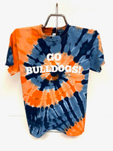 Load image into Gallery viewer, Go Bulldogs! Tie Dye T-Shirt - Adult