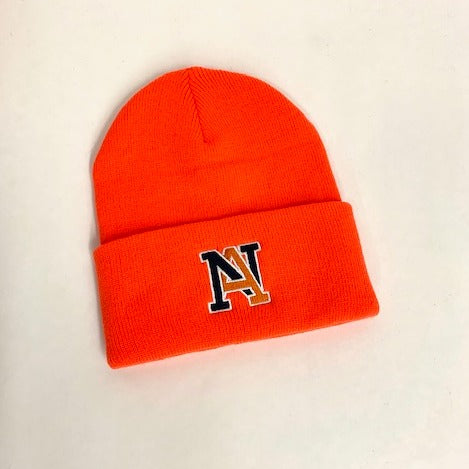 NA Hazard Orange Knit Beanie