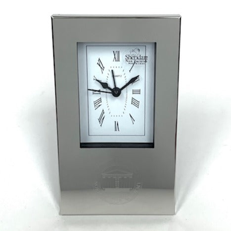 Norfolk Academy Seal Silver Clock