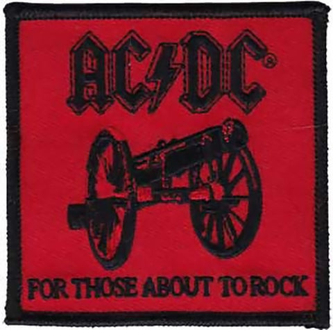AC/DC Iron-On Patch For Those About To Rock Logo