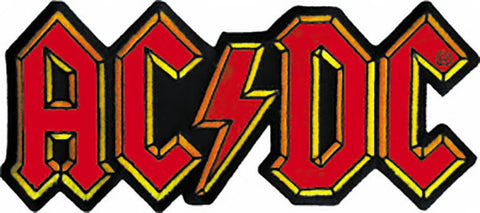 AC/DC Iron-On Patch Classic Letters Logo