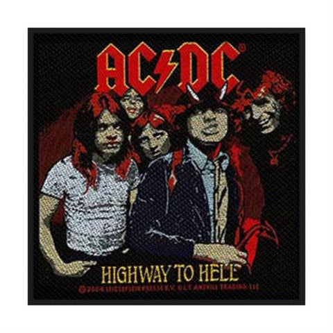 AC/DC Sew On Patch Highway To Hell Logo