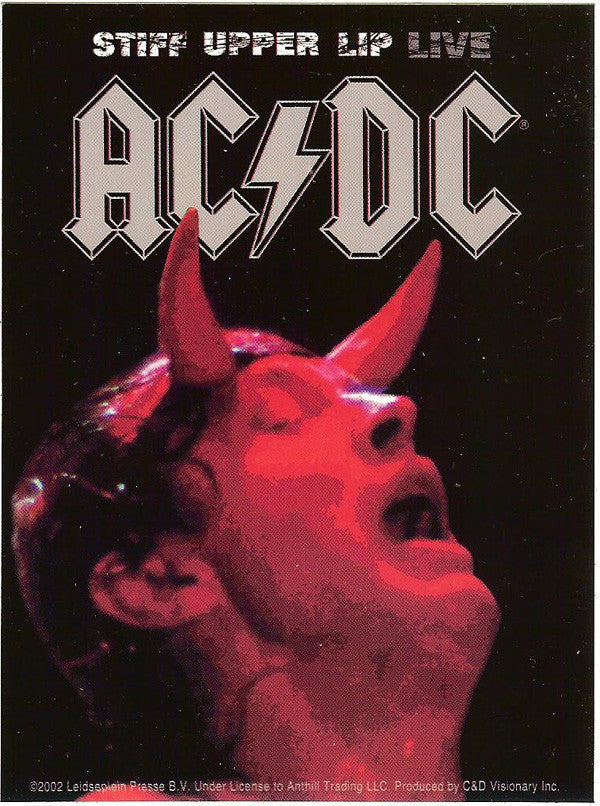 AC/DC Vinyl Sticker Stiff Upper Lip Live