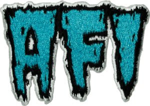 AFI Iron-On Patch Blue Letters Logo