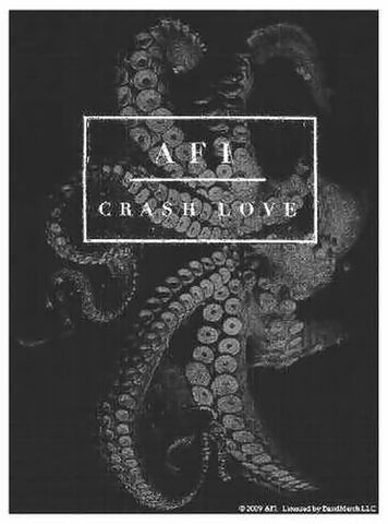 AFI Poster Flag Crash Love Tentacles Logo Tapestry