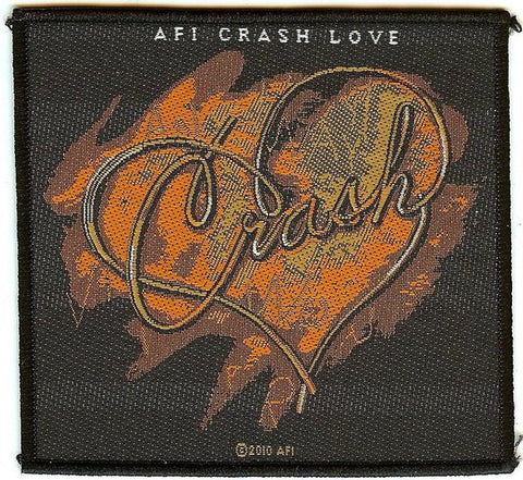 AFI Sew On Patch Crash Love Logo