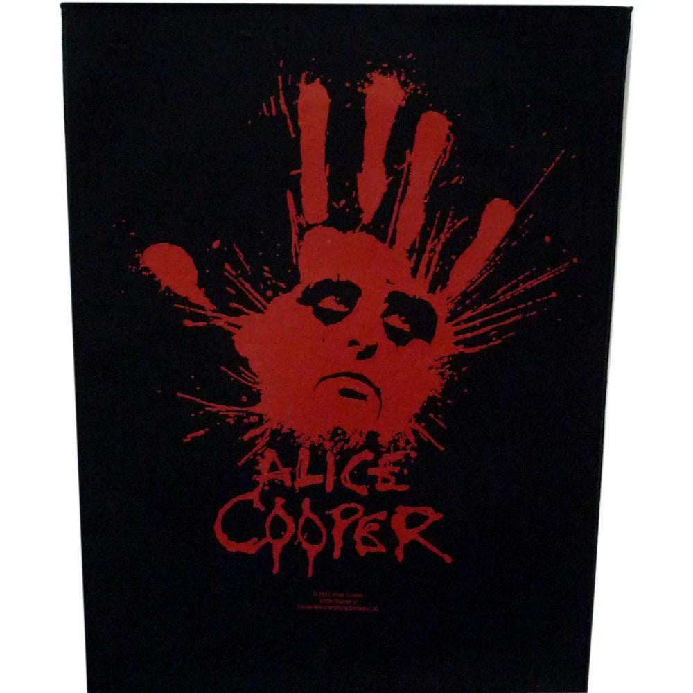 Alice Cooper Sew On Canvas Back Patch Hand Logo