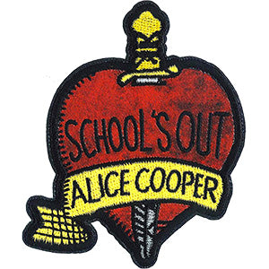 Alice Cooper Iron-On Patch School's Out Logo