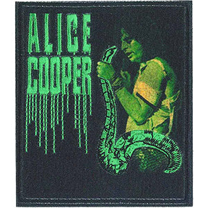Alice Cooper Iron-On Patch With Snake Logo
