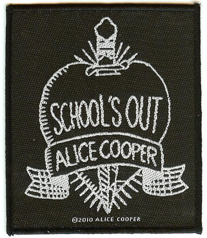 Alice Cooper Sew On Patch Rectangle School's Out Logo
