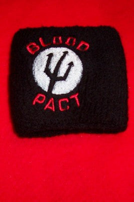 Alkaline Trio Black Wrist Band Blood Pact Logo