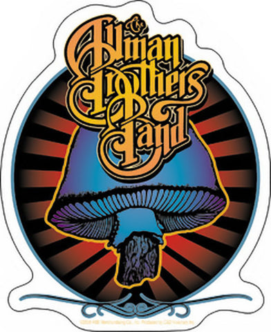 Allman Brothers Band Vinyl Sticker Radiant Mushroom Logo