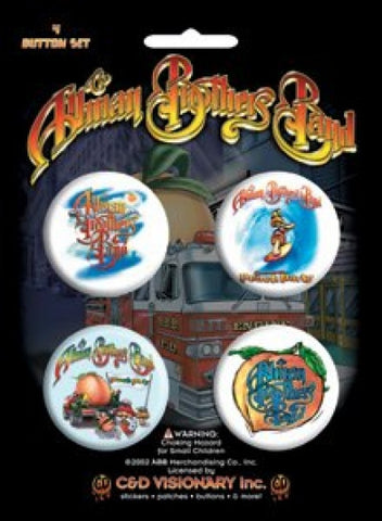 Allman Brothers Four Button Pin Set